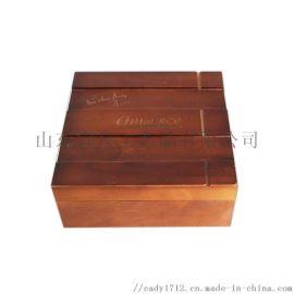 化妆品收纳盒 创意木质收纳盒 复古实木盒子