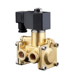 进口黄铜三通电磁阀-水用-空气用-管路换向