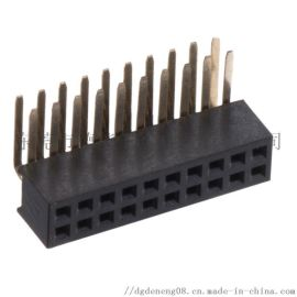 德能1.27排母H4.3双排90度插板U型连接器