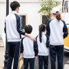 出口跨境中學生校服班服高中男女情侶長袖運動套裝