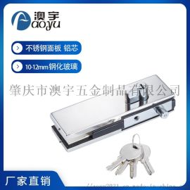 1504B无框玻璃门夹配件加厚铝芯锁夹304不锈钢