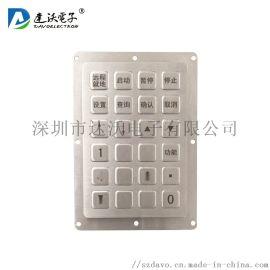 深圳达沃 24键定制金属背光键盘 LED背光键盘