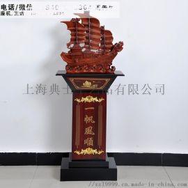 厂家直销大型木质工艺摆件、朔州公司开业庆典礼品定制