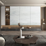 实木大理石沙发背景墙现代简约餐厅背景墙生产厂家