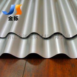 钢结构厂房墙面装饰板 横铺装铝镁锰瓦楞板 32-130-780