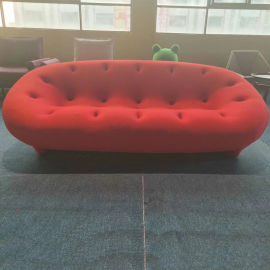 玻璃钢创意弧形多人位沙发网红沙发