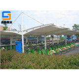 宁波厂家定制膜结构自行车棚,电动车棚,户外遮阳雨棚