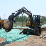 90小型轮式挖掘机 配置参数 厂家供应 轮式抓木机