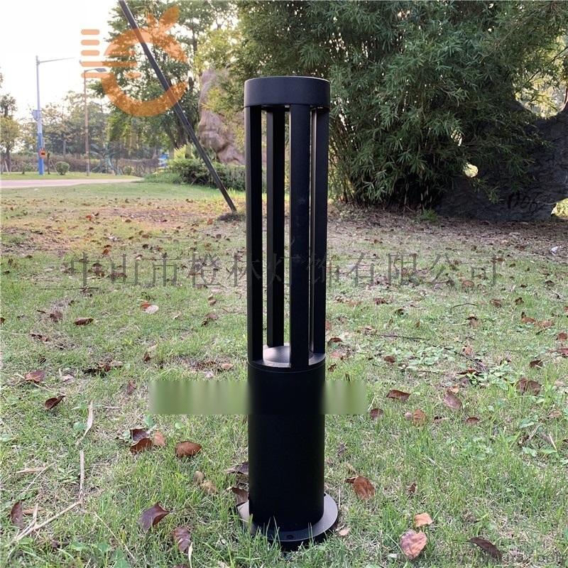 現代簡約圓柱燈不鏽鋼防水草坪燈烤漆工藝立柱燈