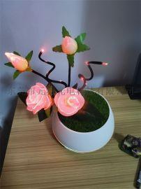 簡約浪漫擺件元特幻寶花飾香薰燈現代家居飾品