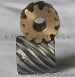 广东齿轮厂家供应45度精密螺旋电机齿轮加工滚齿