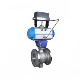 进口气动V型球阀-法兰-调节-铸钢WCB
