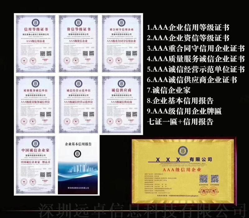 青海3A信用证书如何办理