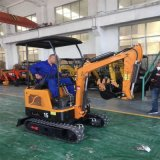 挖掘机的用途 装卸车钩机工作视频 六九重工 轮胎式