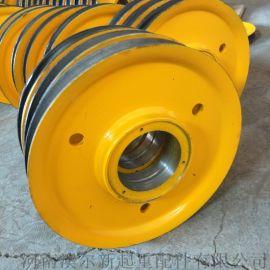 10吨铸钢钢丝绳动滑轮  四绳抓斗滑轮组