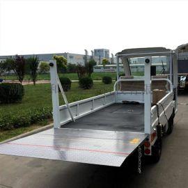 封闭式驾驶舱电动带斗围板货车