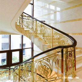 昆明铜板楼梯护栏艺术栏杆定制