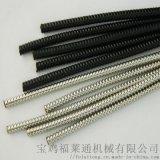 青島包塑不鏽鋼金屬軟管 Φ25黑色金屬蛇皮管