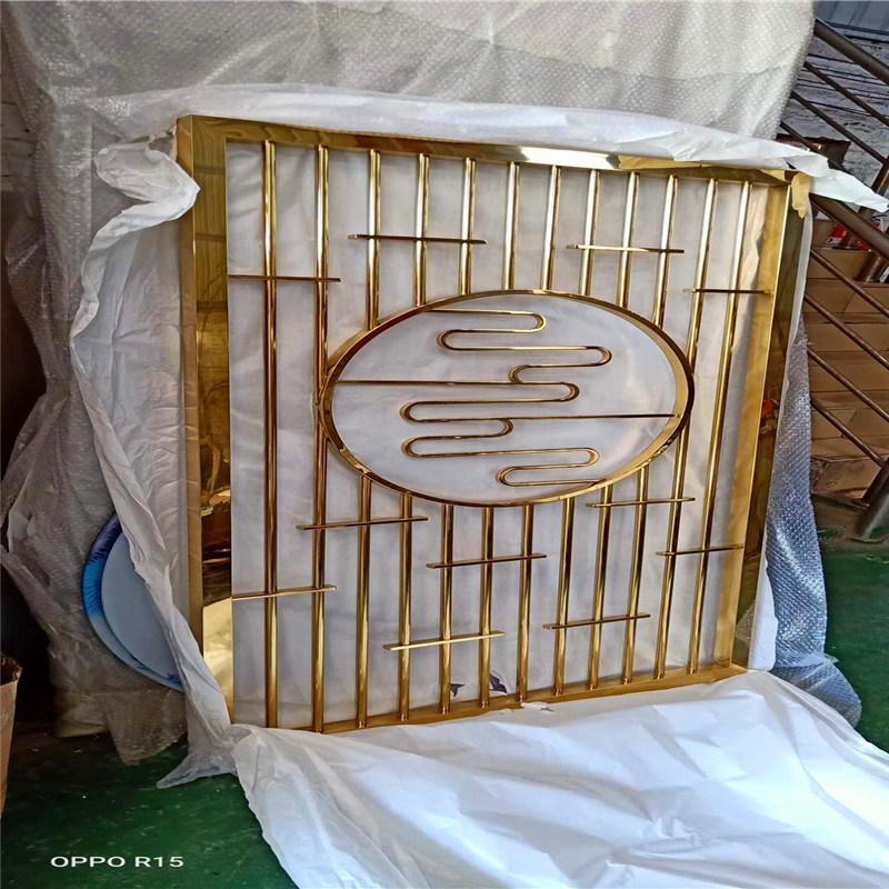 扇形不鏽鋼金屬屏風 波浪形不鏽鋼屏風廠家