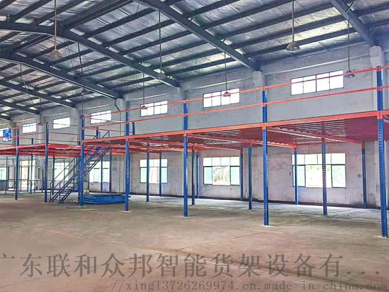 工字钢阁楼货架仓储仓库货架大型工业工厂二层夹层货架