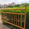 北京仿竹節鋁護欄 茶樓仿古木紋竹子鋁護欄