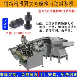 高强度扭剪钢结构螺丝螺栓螺母自动装配锁紧流水线机器