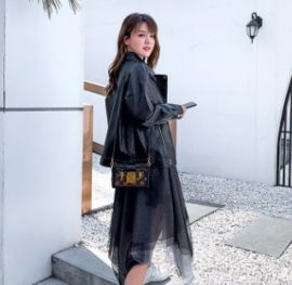 2020新款皮衣外套女春秋短款  宽松时尚百搭女士皮衣夹克机车服