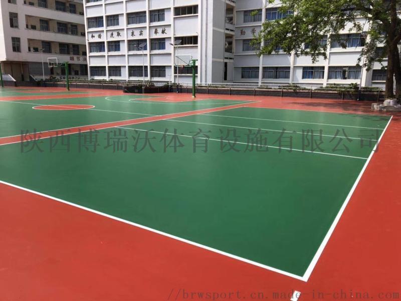 武漢矽PU籃球場建造,矽pu籃球一平方米報價