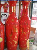 西安陶器花瓶 开业大礼红花瓶 t陶瓷花瓶价格