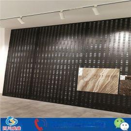 成都瓷砖厂落地展示板,瓷砖落地双面展板