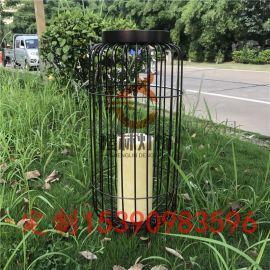 新款鸟笼灯现代公园草坪灯仿云石落地灯防水柱头灯
