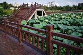 浙江金华水泥仿木栏杆新农村,湖州景区仿古护栏围栏