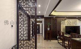 新中式入门不锈钢屏风隔断墙 玄关夹丝玻璃装饰屏风