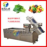 氣泡臭氧蔬菜清洗機 自動上料洗菜機 可連接風幹機