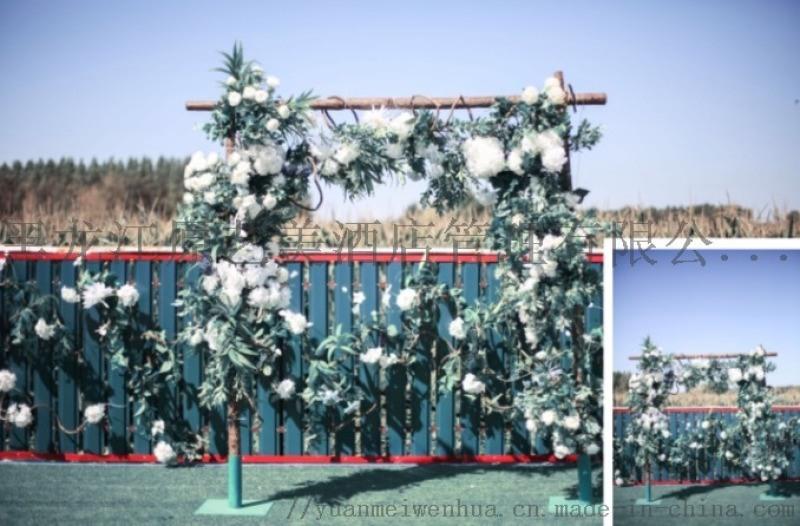 黑龙江原美酒店宴会设计、仿真花、婚礼堂改造、软装