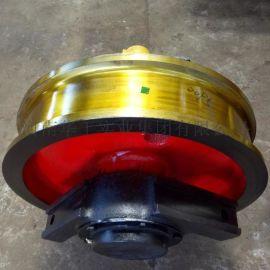 亚重φ800*160双边主动车轮组 铸钢