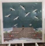 新品琉璃彩绘玻璃挂画 珐琅彩纯手工艺术玻璃 定制生产