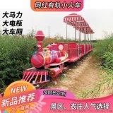 骑乘式轨道小火车网红蒸汽小火车仿古设计观光好设备