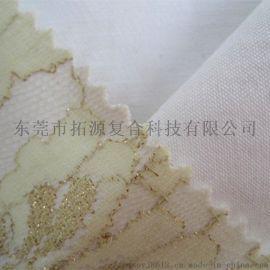 时尚女装花边复合蕾丝面料_白色蕾丝复合白色牛仔布