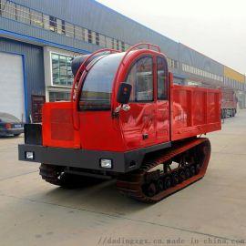 大吨位实心轮工程履带运输车 山林建设履带自卸车