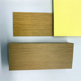 候机室仿木纹铝单板 火锅店木纹铝单板隔断