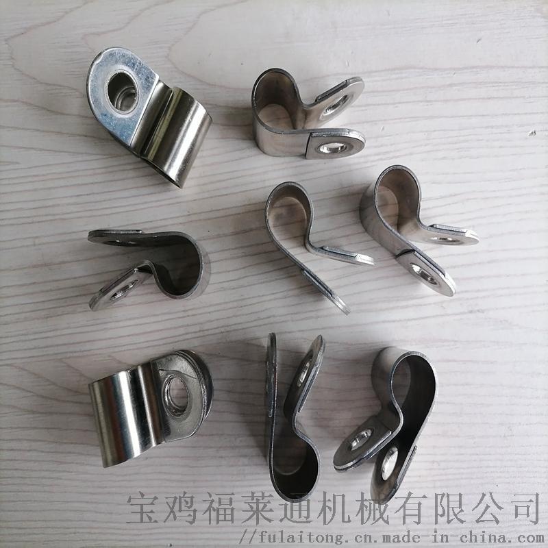 沈阳供应R型不锈钢套胶皮管夹 2*21和双管规格