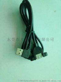USB带螺母连接线 USB母头带耳朵螺母