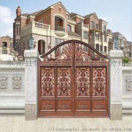 北京石景山区别墅院子大门铝艺楼梯扶手全套价格