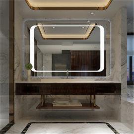 深圳浴室镜厂家 LED防雾镜 智能浴室镜带灯
