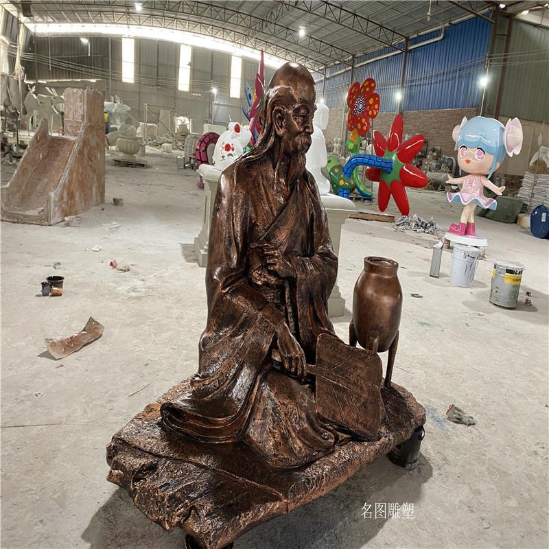 孝德文化主题雕塑 玻璃钢人物模型 户外情景小品雕塑