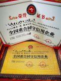全国重合同守信用企业荣誉证书