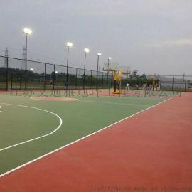 泰州学校社区体育运动场硅PU蓝球网球场地坪材料
