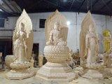 昌东佛像雕塑,玻璃钢东方三圣厂家,木雕西方三圣厂家