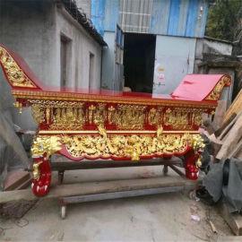 浙江木雕供桌定做厂家,寺庙元宝桌,香樟木供桌厂家